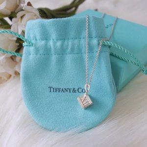 Tiffany & Co. Atlas Cube Pendant Necklace
